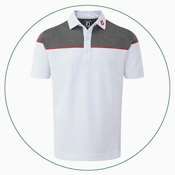 FootJoy Colour Block Stretch Pique polo
