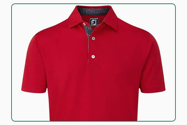 FootJoy Stretch pique with Paisley Print Trim polo
