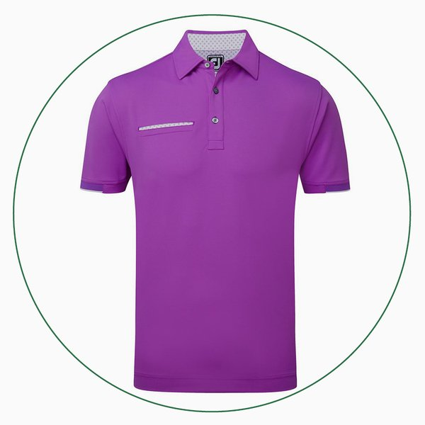 Smooth Pique with Half Band Cuff polo