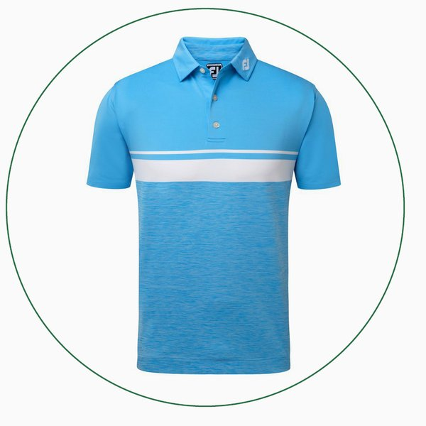 Stretch Lisle Colour Block with Space Dye polo