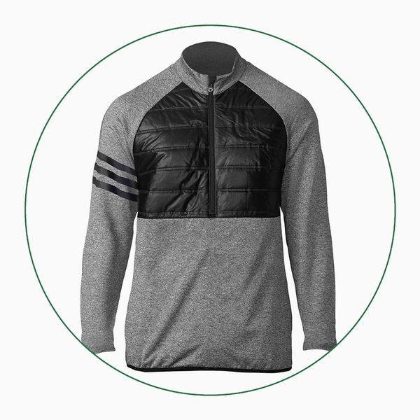 adidas climaheat quilted half-zip jacket