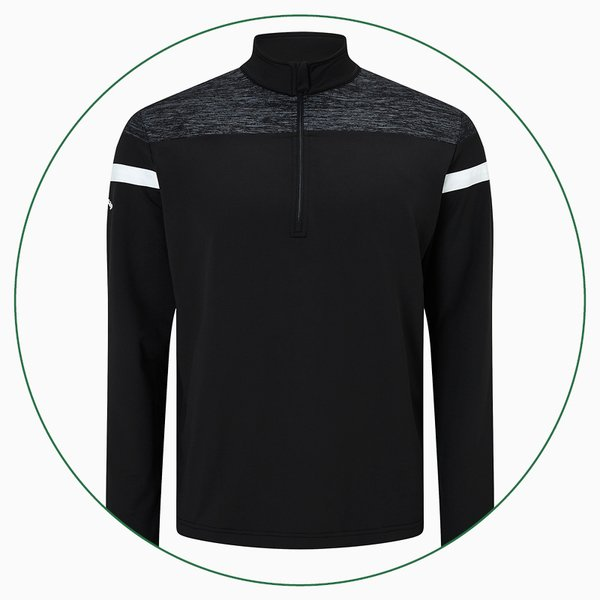 Callaway Long Sleeve Heathered Knit Thermal pullover