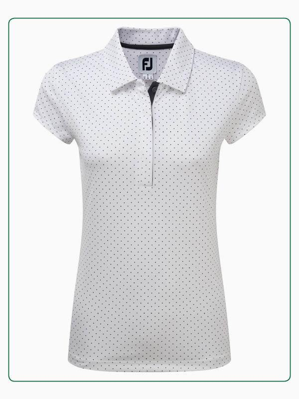 FootJoy Printed Dot Smooth Pique Cap sleeve