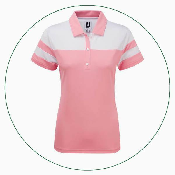 FootJoy ladies Printed Dot Smooth Pique polo