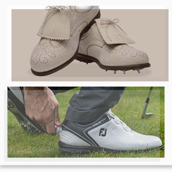 FJ golf shoes - old vs present