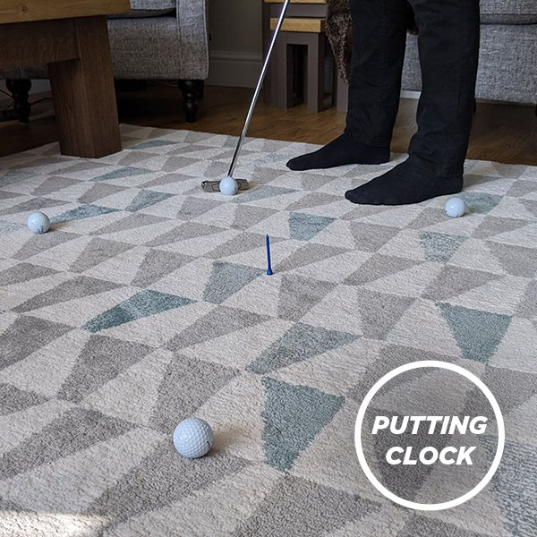 Golf at home - Putting drill