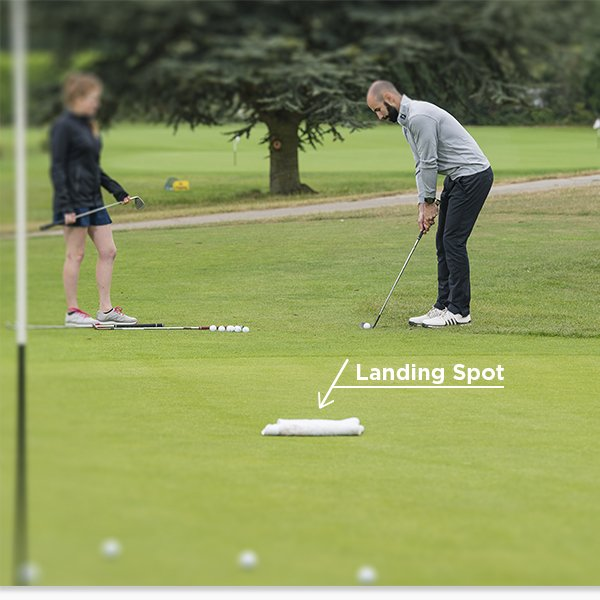 Landing spots when chipping
