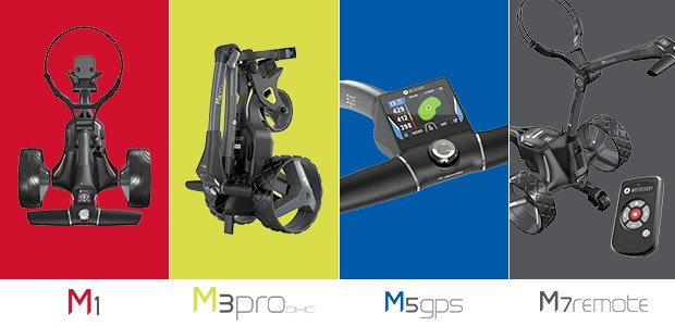 Motocaddy M-Series Electric Golf Trolley Range
