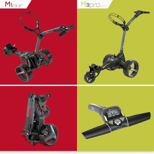 Motocaddy M1 DHC and M3 Pro DHC trolleys
