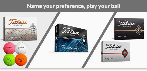 Choose your Titleist golf balls
