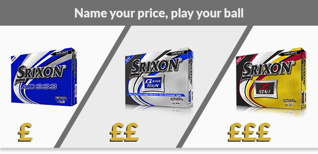 Choose your Srixon golf balls