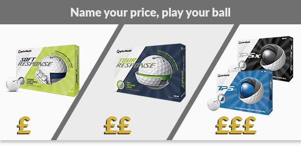 Choose your TaylorMade golf balls
