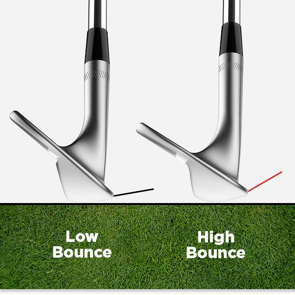 High vs. low bounce wedges