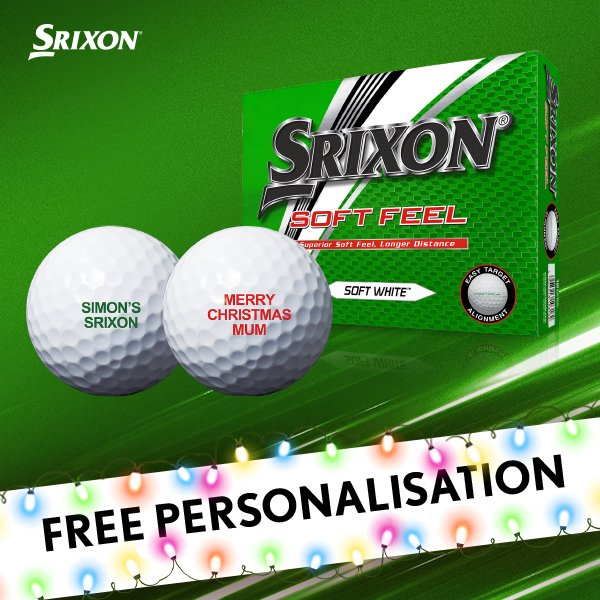 Srixon Soft Feel golf ball free personalisation