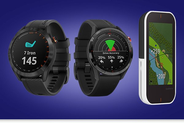 Garmin distance-measuring devices and launch monitors