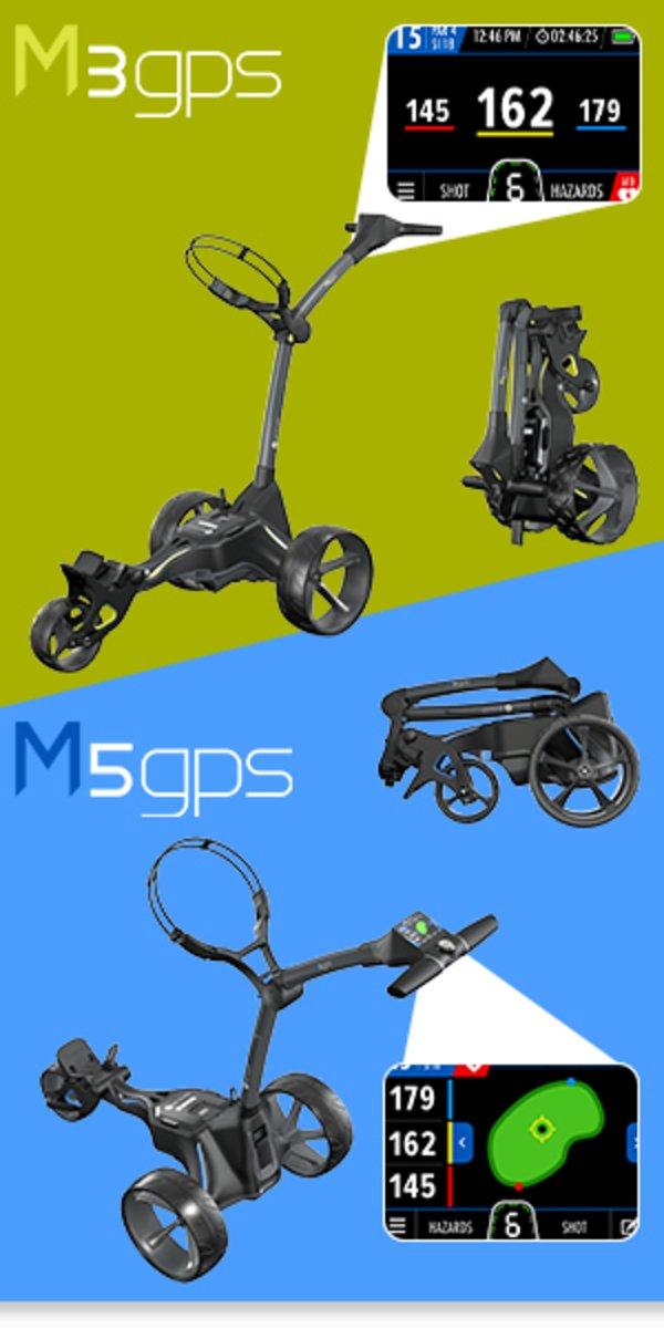 Motocaddy electric golf trolleys
