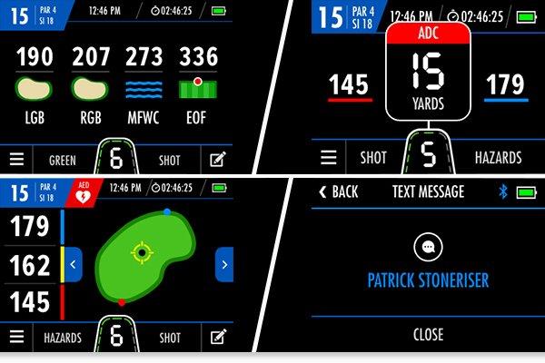 Motocaddy's GPS system for golf trolleys
