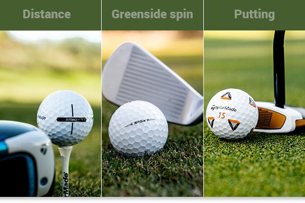 TaylorMade Distance Plus, TP5 & TP5x Pix golf balls