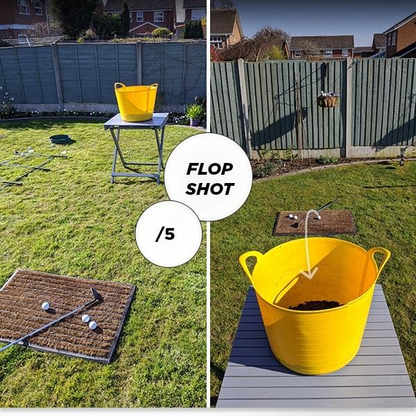 Golf at Home - Flop shot challenge