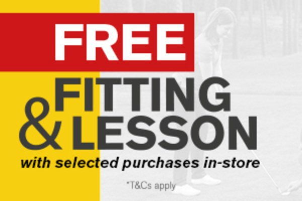 Free fitting and free lesson with selected purchases over £299
