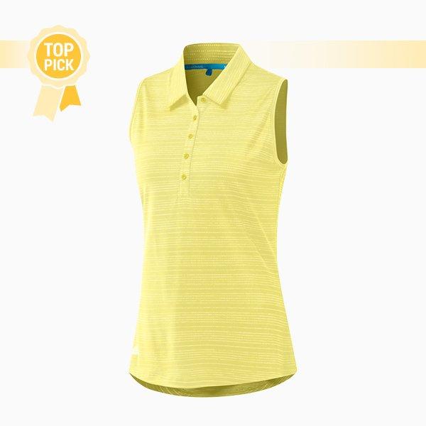 Microdot Sleeveless polo shirt