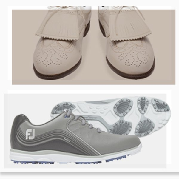 FJ golf shoes - old vs present