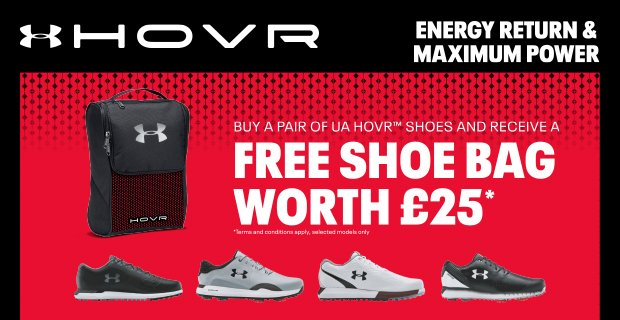 Under Armour free shoe bag worth £25 -with a purchase of HOVR shoes