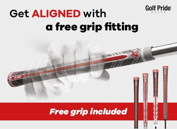 Free grip fitting and Golf Pride ALIGN grip